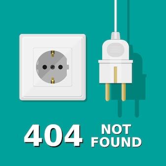 O plugue elétrico está desconectado do soquete.