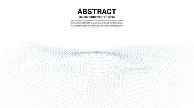 O ponto e a linha da curva do contorno digital ondulam e acenam com estrutura de arame. abstrato para o conceito de tecnologia futurista