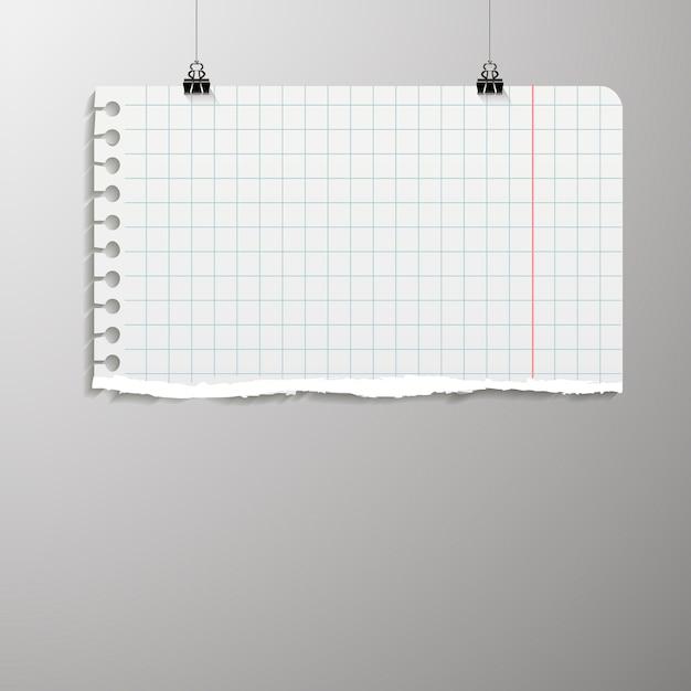 O pôster está pendurado em uma pasta. plano de fundo com um layout de papel em branco. o layout do layout. folha de modelo vertical