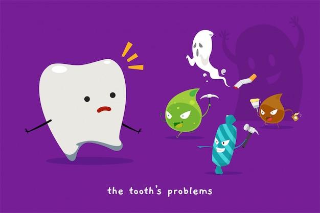 O problema do dente. ilustração vetorial isolado