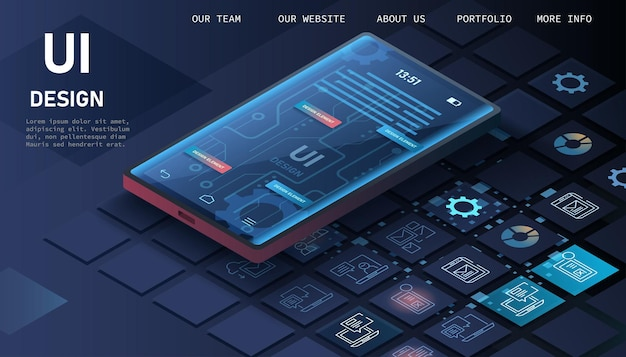 O processo de desenvolvimento da interface do site.