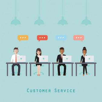 O projeto do cliente equipe de serviço