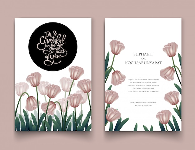 O quadro floral rosa para cartões de convite.