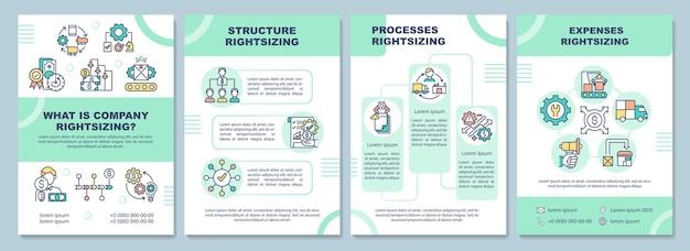 O que é a ilustração do modelo de folheto de dimensionamento correto da empresa