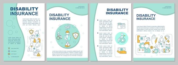 O que é o modelo de folheto de seguro de invalidez.