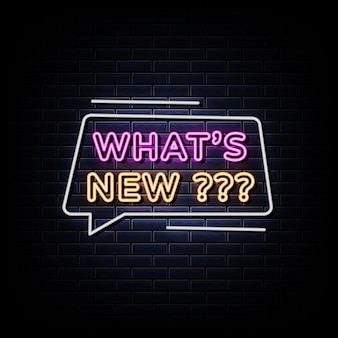 O que há de novo no texto do estilo dos letreiros de néon
