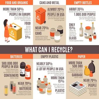O que posso reciclar infográficos