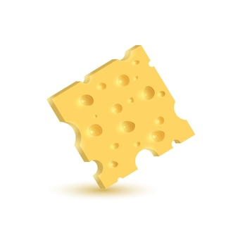 O queijo. ilustração em fundo branco.