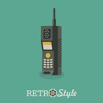 O radiotelefone. um modelo desatualizado. aparelho portátil.