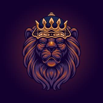 O rei da ilustração do leão
