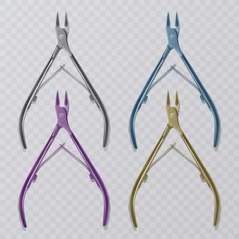 O removedor de cutículas da tesoura, ferramentas de manicure