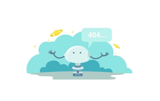 O robô não consegue encontrar sua página. página de erro 404 não encontrada.