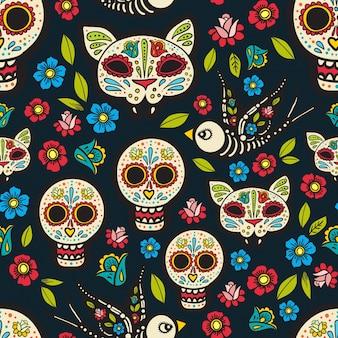 O sem costura de day of the dead,