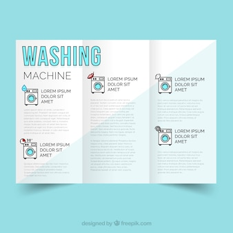O serviço de limpeza máquina de lavar roupa vector
