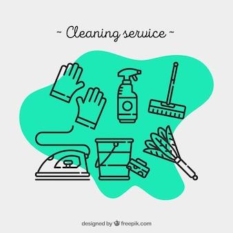 O serviço de limpeza para o hospital