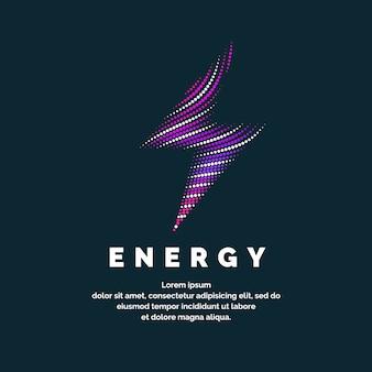 O sinal da energia. o zíper colorido das linhas dinâmicas em um fundo escuro. ilustração vetorial brilhante