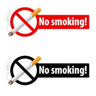 O sinal de não fumar