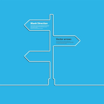 O sinal de seta do conceito de escolher a direção do entroncamento. vetor