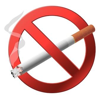 O sinal não fumar.