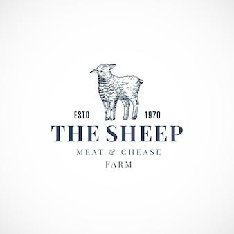 O sinal, símbolo ou logotipo abstrato da ovelha