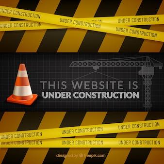 O site em construção