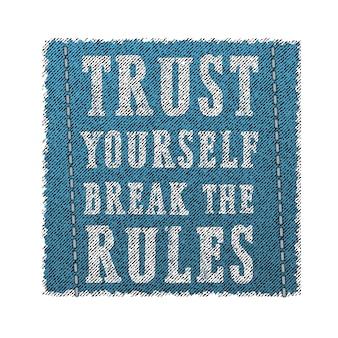 O slogan quebra todas as regras. projeto grunge. gráficos de camiseta. ilustração vetorial