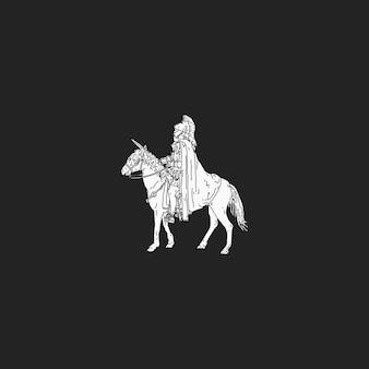 O soldado romano a cavalo