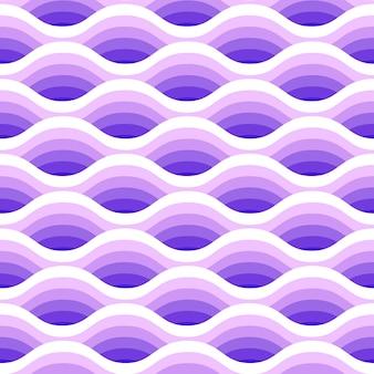 O sumário acena o teste padrão sem emenda nas cores roxas.