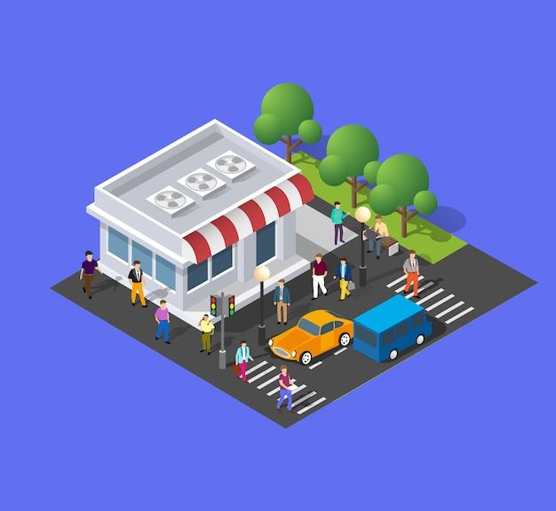 O supermercado de restaurante de loja