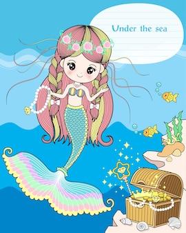 O tesouro sereia sob o mar