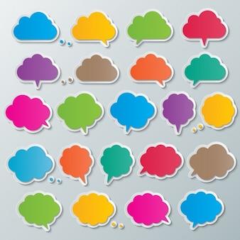 O texto colorido das bolhas
