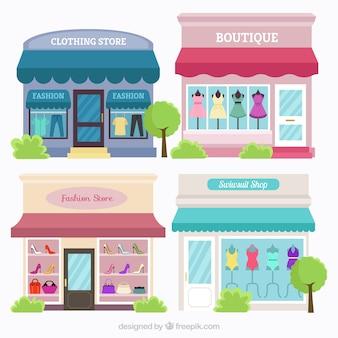 O tipo de lojas no estilo do vintage