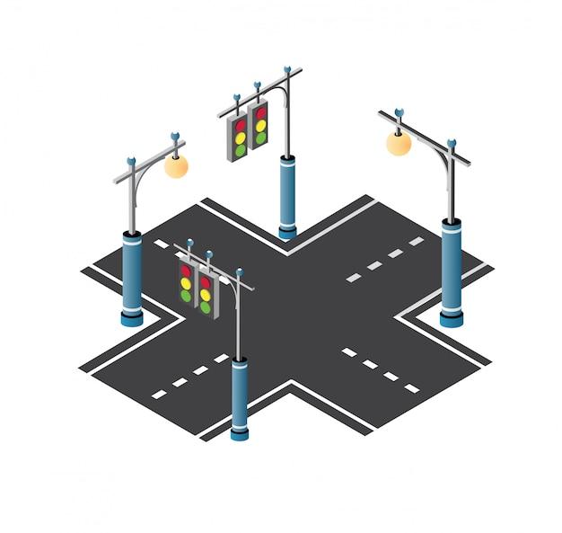 O tráfego da rua