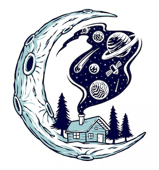 O universo é casa ilustração