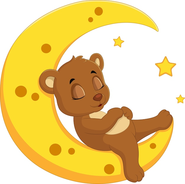 O urso dorme na lua