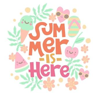 O verão está aqui letras