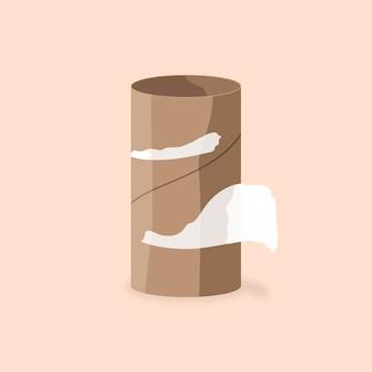 O vetor de elemento de papel higiênico acabou