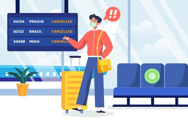 O voo cancelado anuncia o conceito