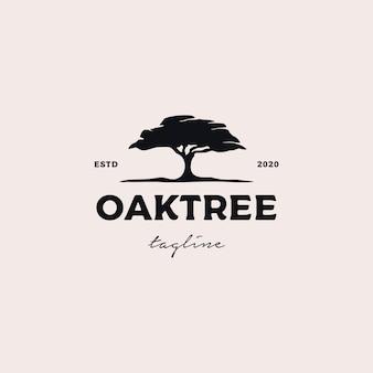 Oaktree logo design ilustração