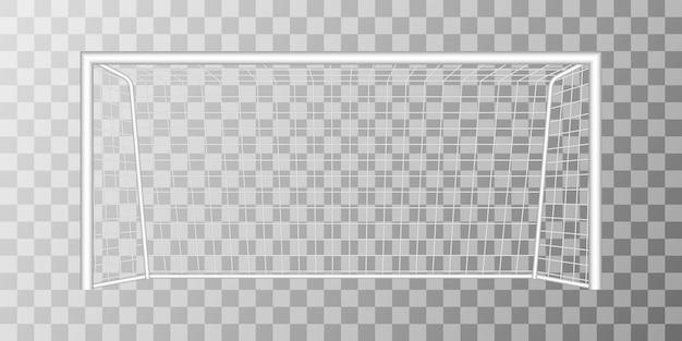 Objetivo de futebol isolado em fundo transparente