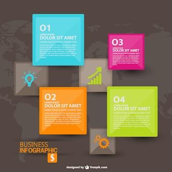 Objetivo de negócio vetor infografia