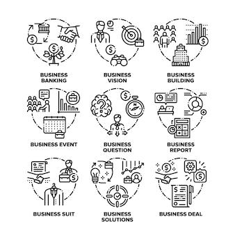 Objetivo de negócios, soluções e realização, evento e acordo de negócio