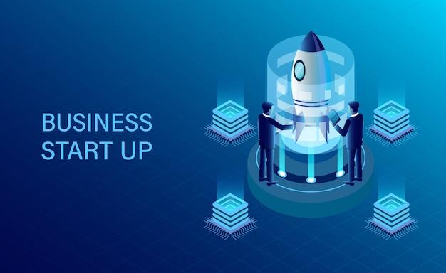 Objetivo de sucesso de negócios isométrica
