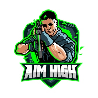 Objetivo high esport gaming team logo