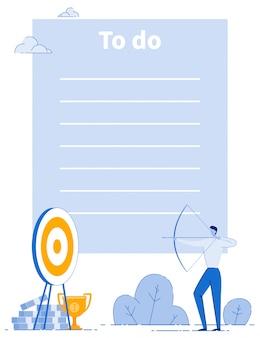 Objetivos de negócios estratégia da empresa para fazer o layout da lista