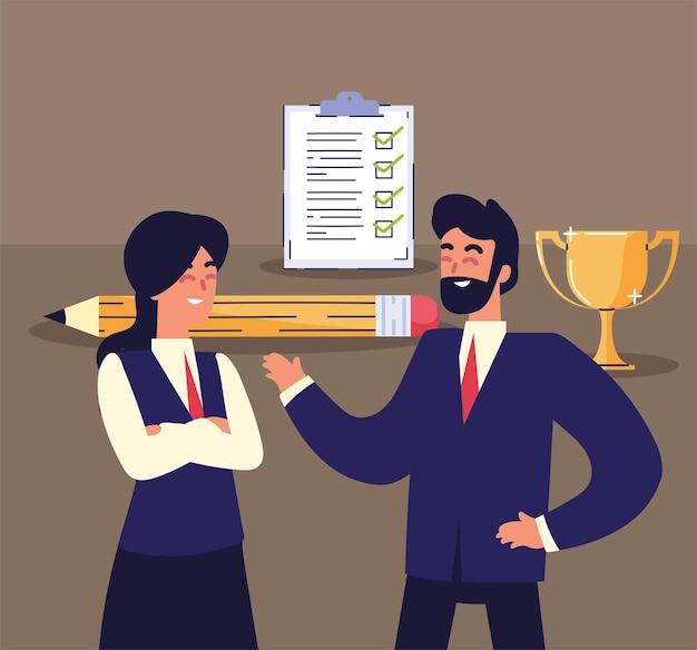 Objetivos de trabalho de executivos