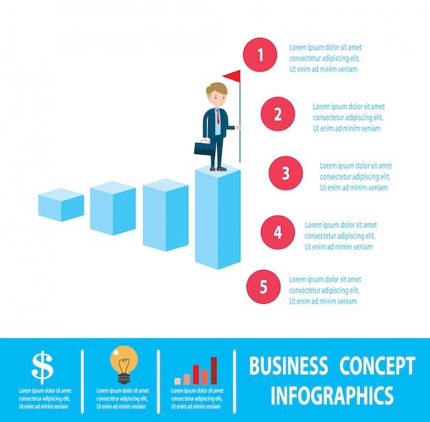 Objetivos, sucesso, conquista e desafio conceito de pessoas de negócios.