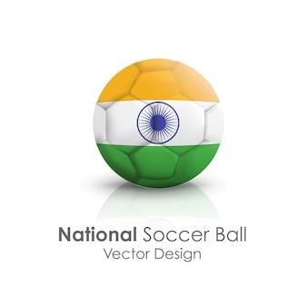 Objeto de bola nacional footballball mundial