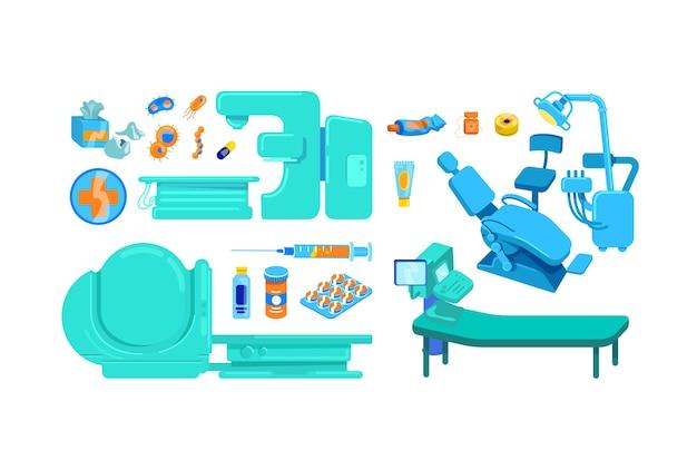 Objeto de cor plana de equipamento clínico