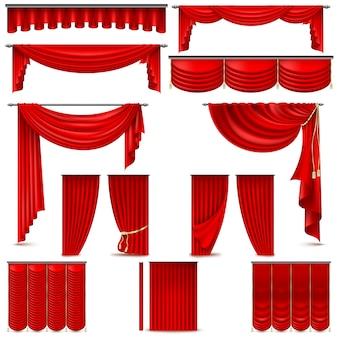 Objeto de decoração de interiores de cortinas e cortinas.